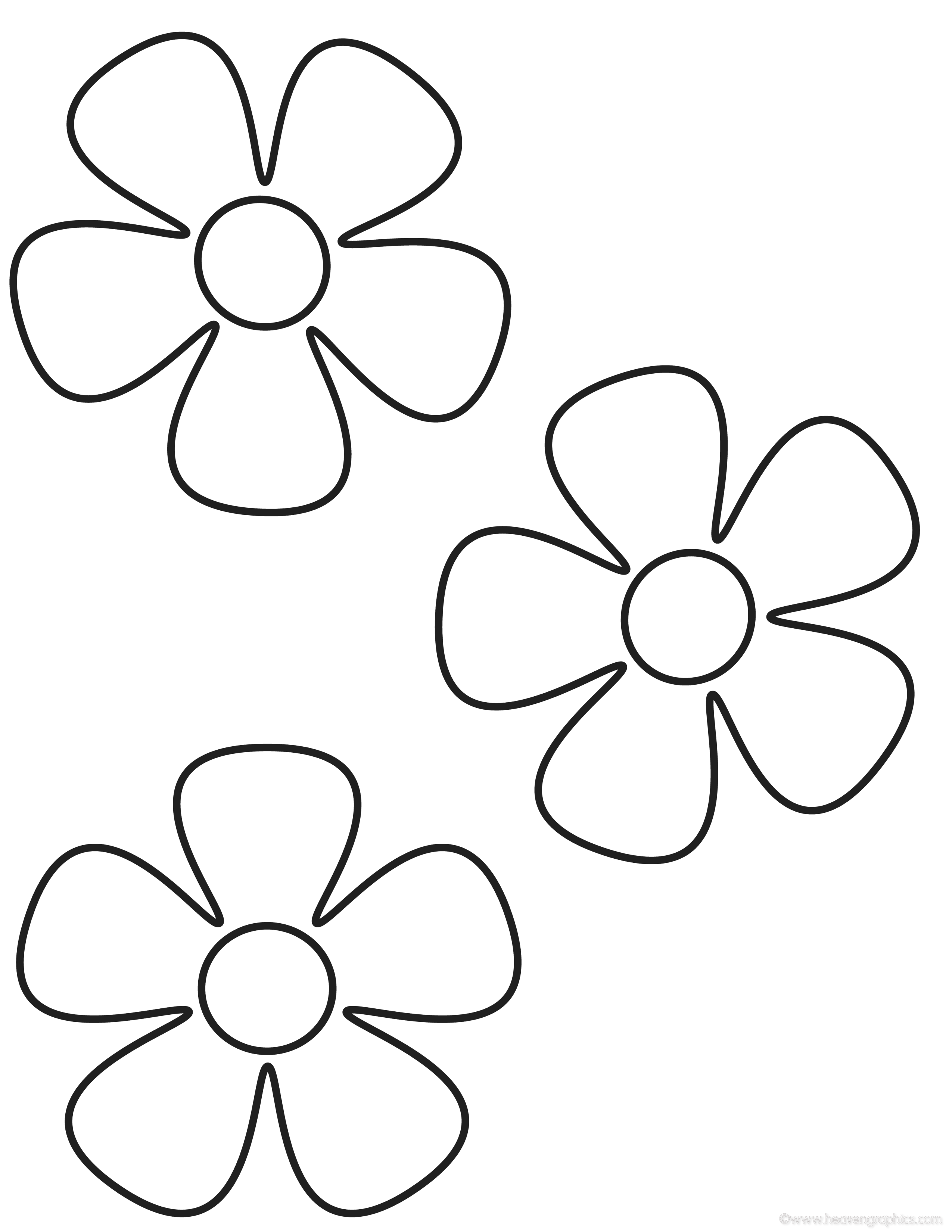 Colouring pictures for children for Flower coloring pages for preschoolers